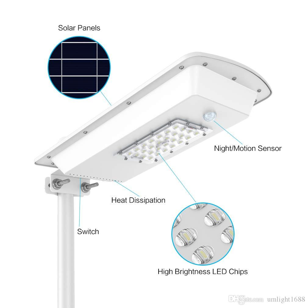Umlight1688 10W 15W Solar Power Energy Saving Lamp Waterproof IP65 Outdoor Garden Integrated All In One Solar Street Light