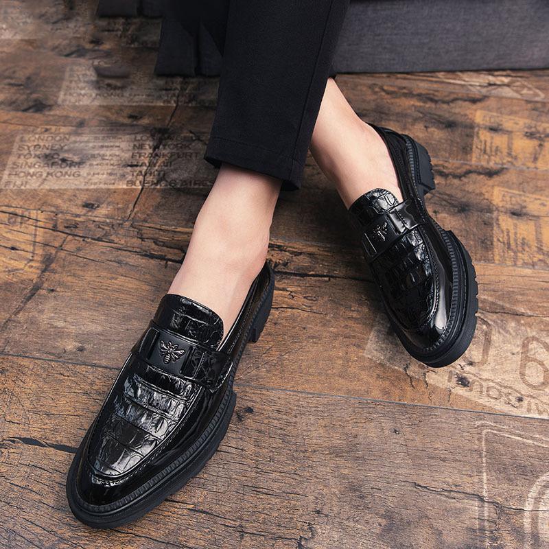Homens Partido mocassins de crocodilo Sapatos Oxford Preto Luxury casamento sapatos Zapato Hombre Vestir Scarpe