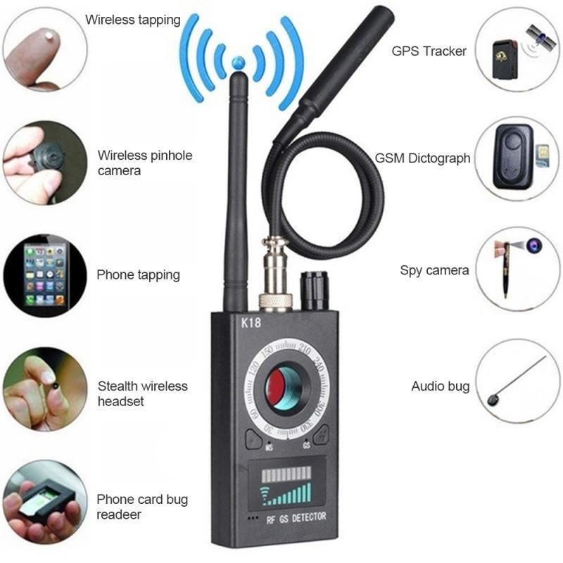 RF Signal Multi-function Bug Anti- Detector Camera GSM Audio Bug Finder GPS Scan Wireless Signal Detector 70000MCD Bright
