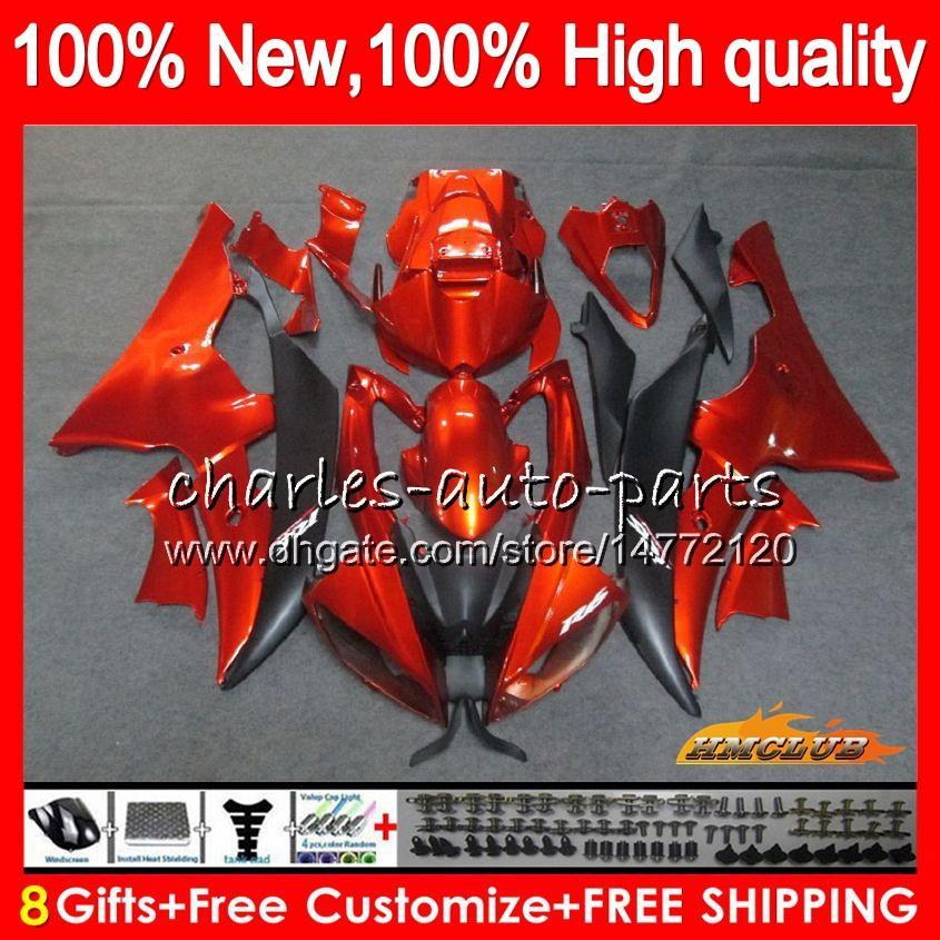Körper für YAMAHA YZF600 YZF R6 orange schwarz YZFR6 2008 2016 68HC.14 YZF 600 R 6 CC 600cc YZF600 YZFR6 08 09 10 11 12 13 14 15 16 Fairings