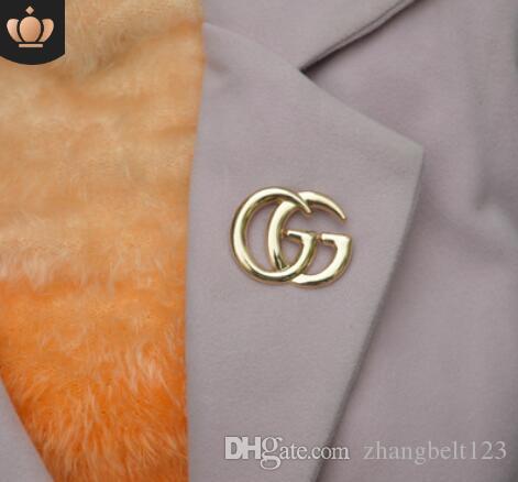 Concepteur Exquis Double Lettre G Broche Pour Les Femmes Déclaration De La Mode De La Mode Broches Broches Accessoires Bijoux Cadeau3
