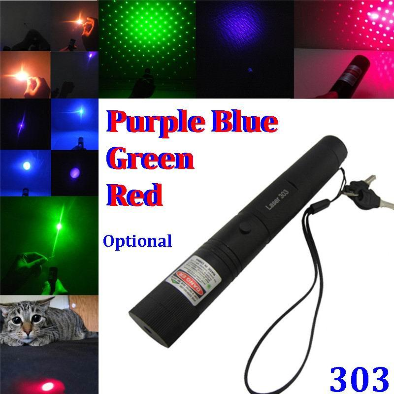 532NM 650NM 405NM RED Blue Green Laser Pointer Adjustable SDlaser 303 Presenter pen High Powered Focus Burning