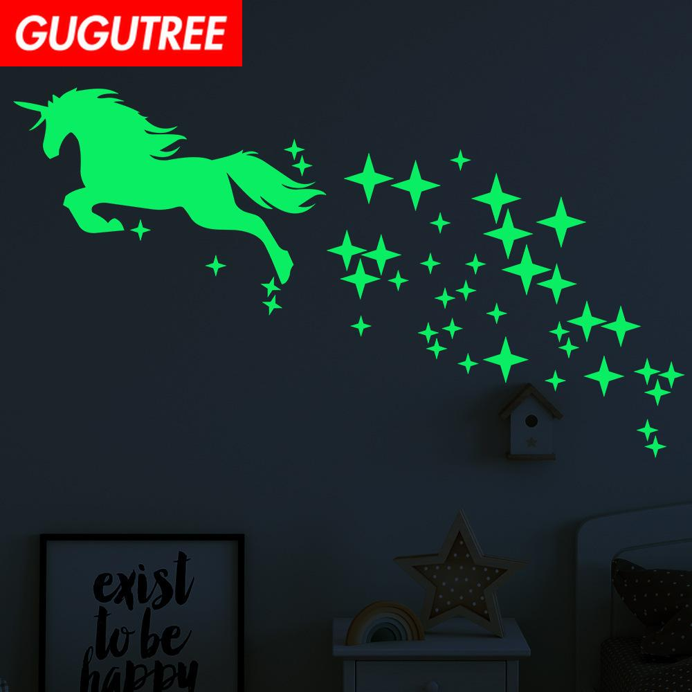 Decorate Home Diy horse star cartoon art glow wall sticker decoration Decals mural painting Removable Decor Wallpaper G-456