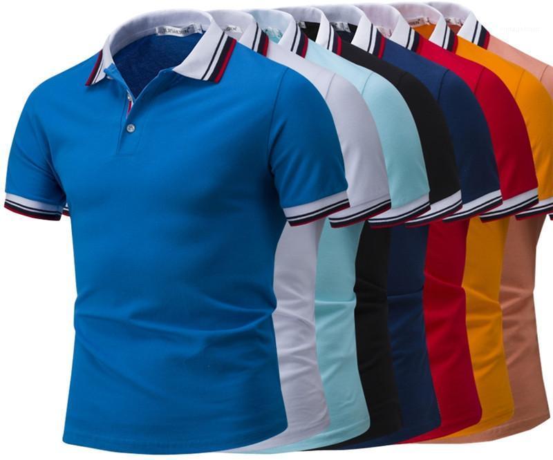 Designer Polo Uomo Casual manica corta risvolto collo maglietta Multi Color Plus Size Maschio Abbigliamento Uomo 2020 Lusso