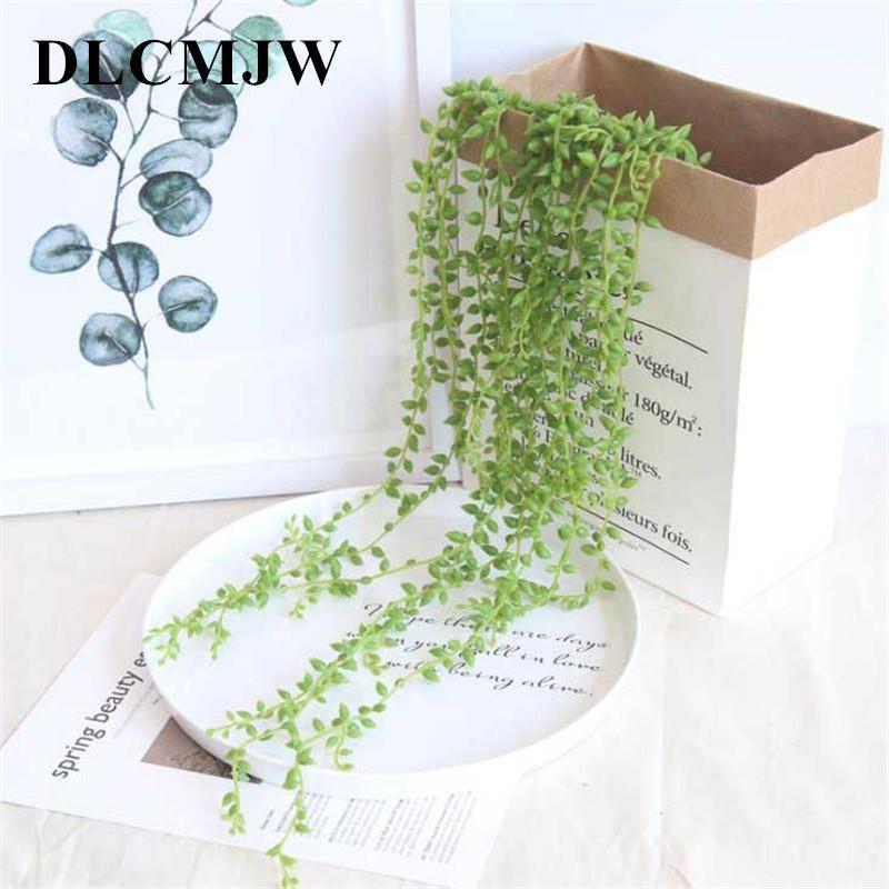 1 pcs Plantes Artificielles Vert En Plastique Plante Feuilles Jardin Décoration De La Maison Artificielle Herbe Faux Plante Feuilles Plante Verte Vigne C19041302