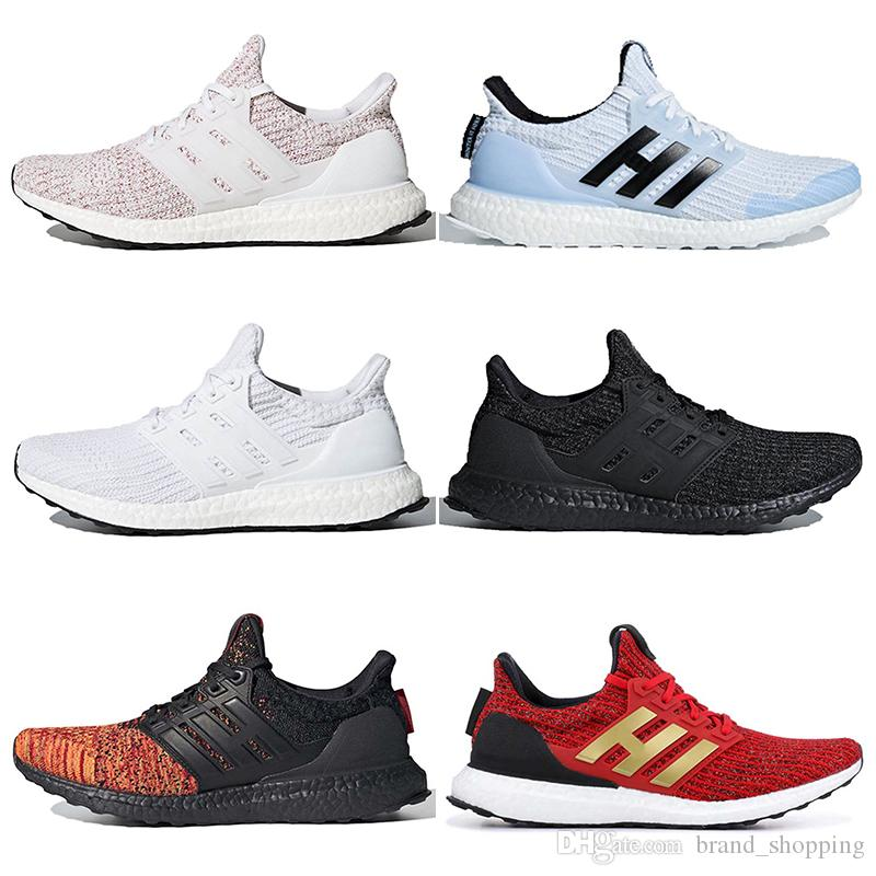 UltraBoost 4.0 women mens running shoes triple white black Ultraboost 19 active red trainers runners sneakers 36-47