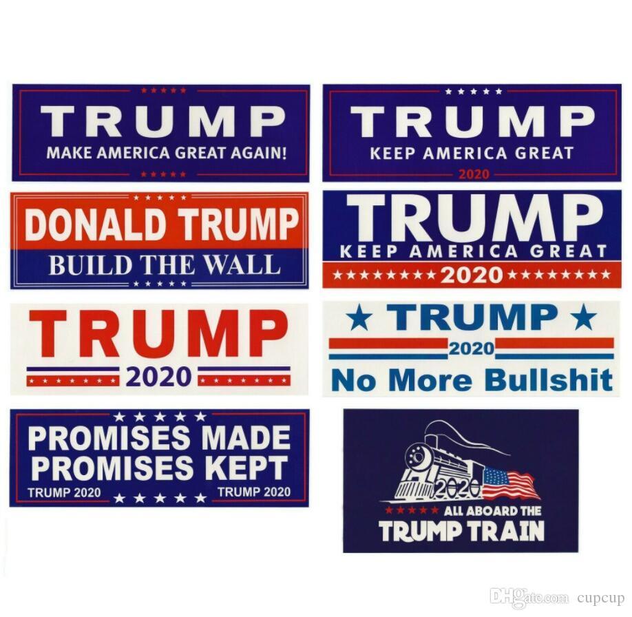 Donald Trump 2020 Car Adesivos 7,6 * 22,9 centímetros adesivos mantenha tornar a América Grande decalque para Car Styling Veículo Paster 10pcs / lot