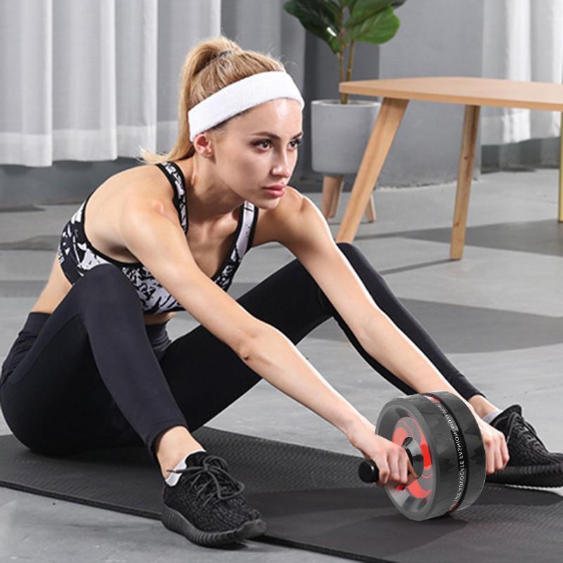 No hay ruido de aparatos de ejercicios pesas ejercicio de la gimnasia abdominal Rueda + saltar la cuerda de la cintura del brazo Piernas fuerza muscular Herramienta de formación