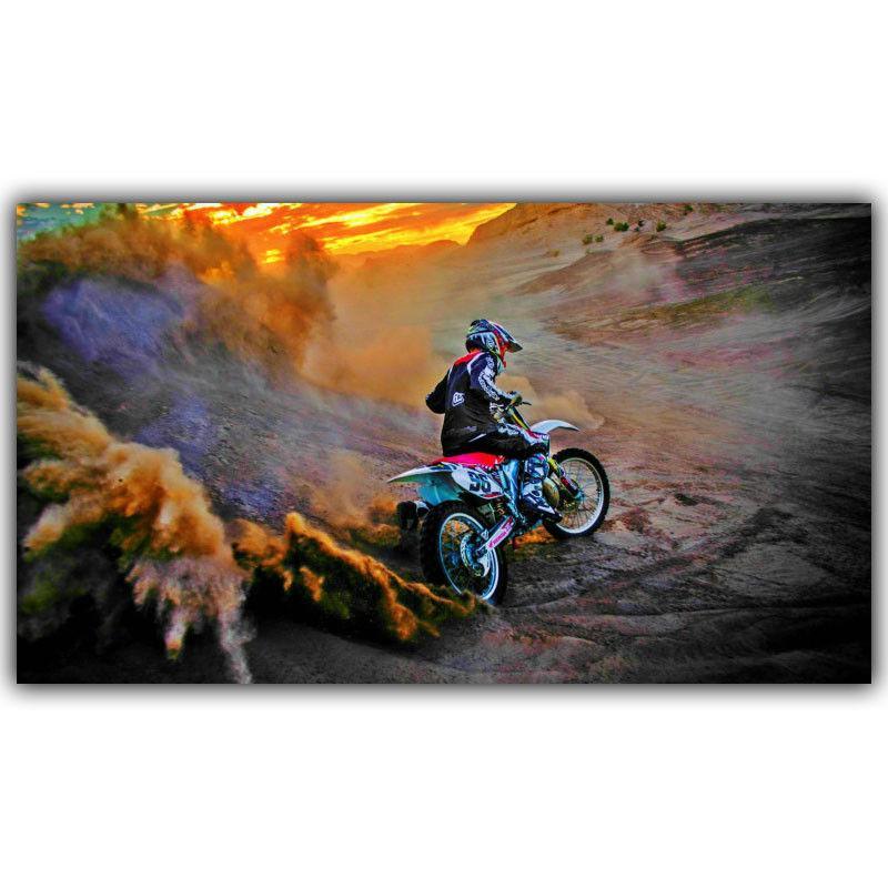 Мотокросс спортивные гонки плакат искусство шелк печати плакат 24x36inch (60x90cm) 154