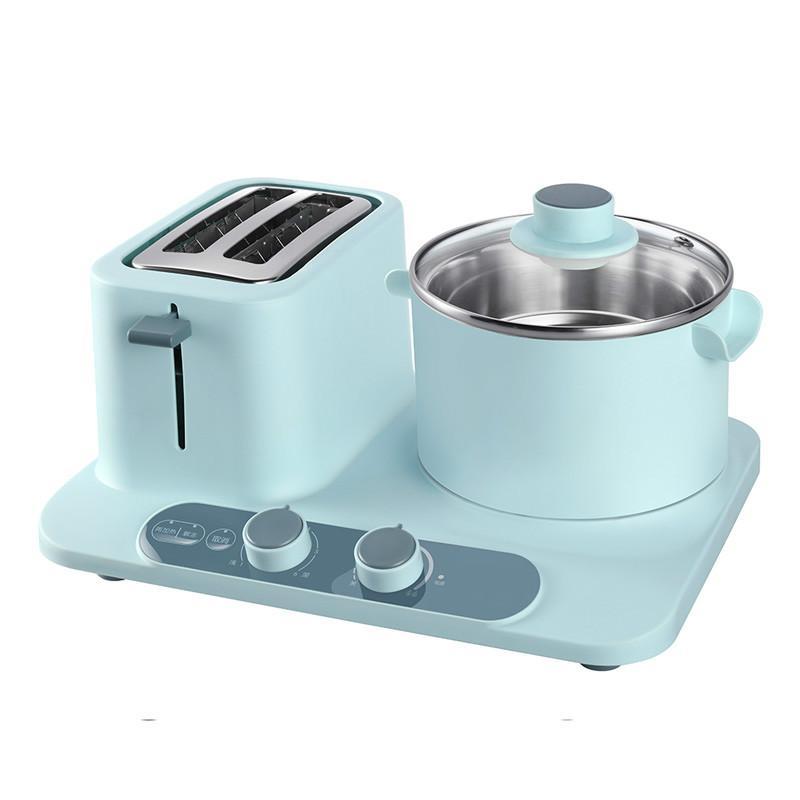 220 V 1320 w 1.2L 18 cm 304 aço inoxidável frigideira Elétrica fabricante de Café da manhã 2 fatias de pão 6 tigelas Panela de revestimento Não-aderente Toaster