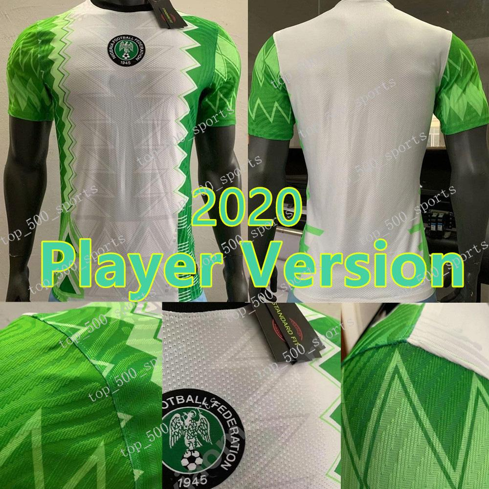 Player versión 2020 camiseta de fútbol de Nigeria Inicio 20 21 Nigeria Okechukwu Okocha Ahmed Musa MIKEL Iheanacho fútbol camisa de uniforme
