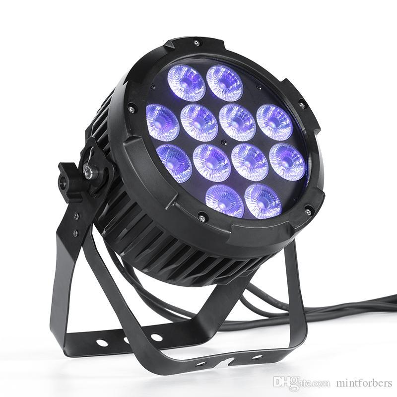 MFL P12 IP65 resistente al agua con pilas DMX inalámbrico 12pcs 18W Tyanshine lámparas llevadas RGBWA + 6en1 UV LED de la etapa luz de la igualdad