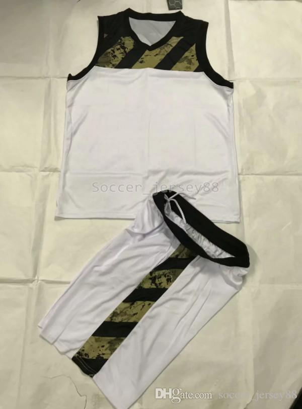 New Mens branco Edição Basketball Jerseys # A832-18 personaliza Hot Venda rápida secagem T-shirt Clube ou Equipe Camisa Contactar shirts6 me de futebol