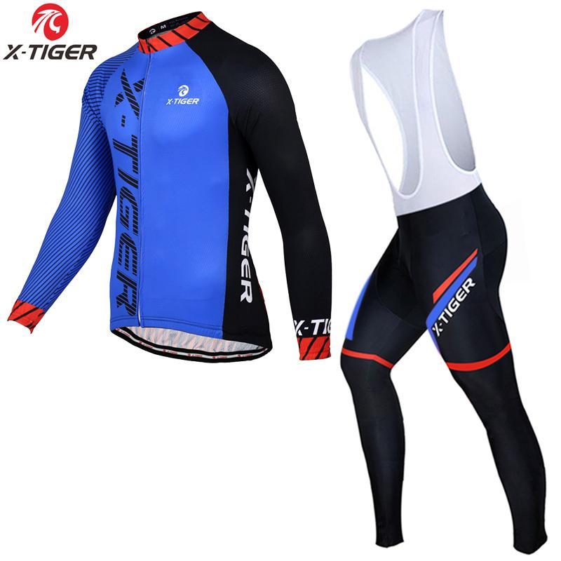 X-Tiger 2020 d'hiver en polaire vélo thermique maillot manches longues VTT Vélo Vêtements Vélo de course à vélo Set pour les hommes