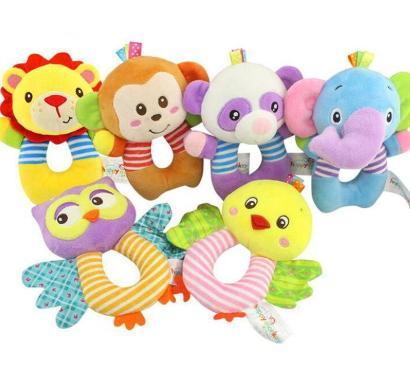 Vente en gros jouets pour enfants doux bébé hochet clochette main Bell peluche poussette animaux mignons papillon bébé jouets 0-12 mois