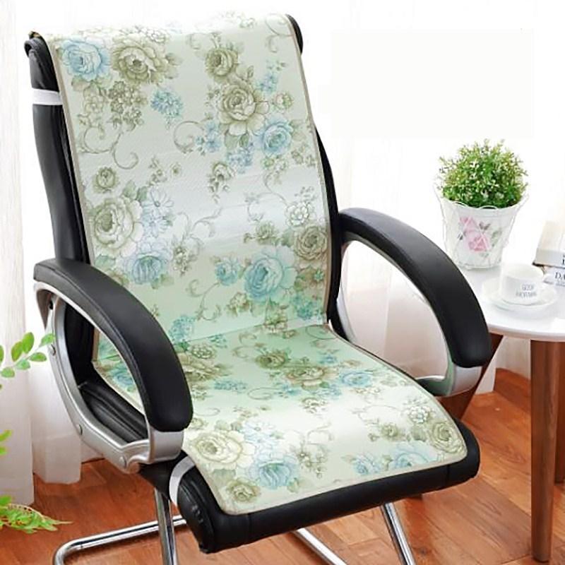 الطباعة الحرير الجليد كرسي غطاء مقعد وسادة الصيف بارد سيامي تنفس الطعام كرسي الكمبيوتر وسادة وسادة مكتب المنزل الديكور