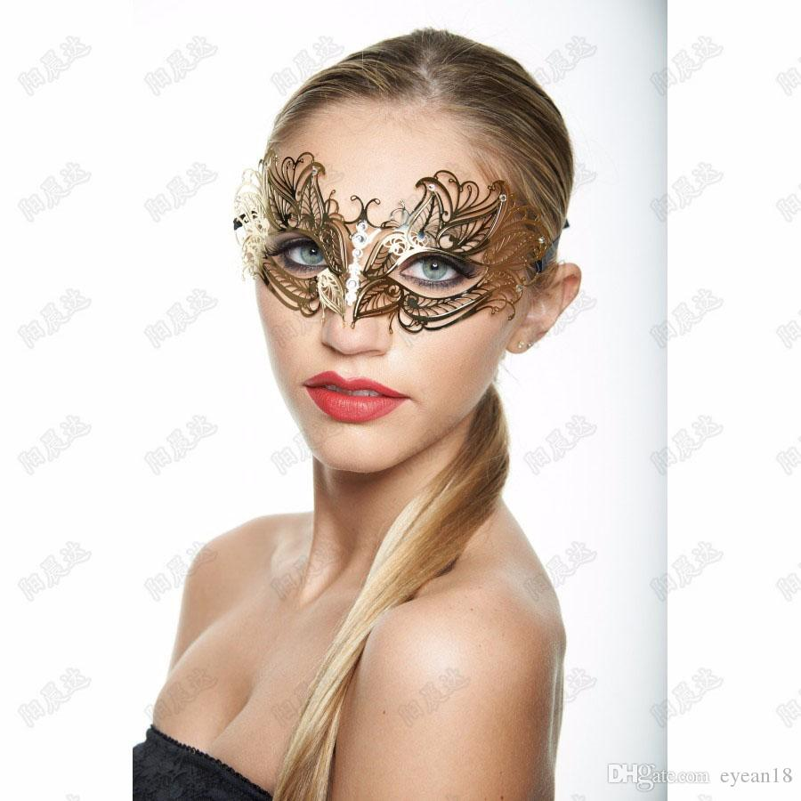 Gold Party Iron And Metal Masquerade Wrought Dress Diamond Silver Princess Mask Mask Decoration Prop Female Pkpjf
