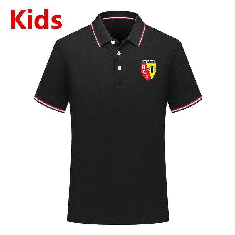 Ligue 2 RC Lens çocuklar Polo gömlek futbol formaları çocuklara Futbol Polos RC Lens gençlik Kısa Kollu polo gömlek Futbol polos Fanlar Tops