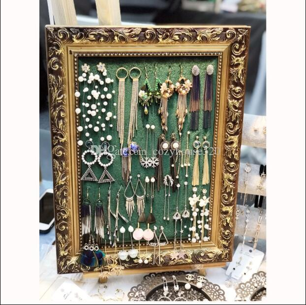 30*40cm fashion Jewelry mannequin Frame Display Hanging Board/Earring Jewelry Frame Storage box Receiving Board Home furnishings 1pc C618