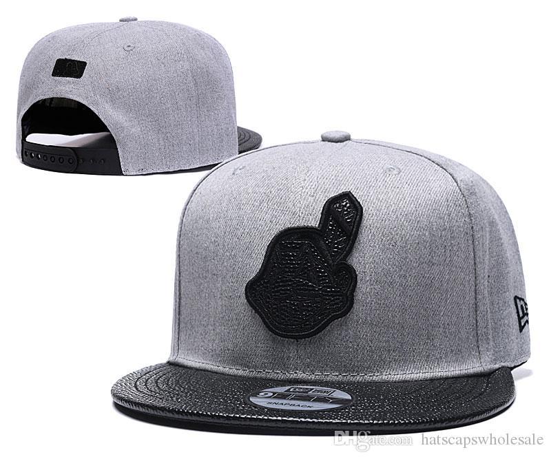 Mesh Style Indians Baseball Snapback hats brands Hip Hop out door Sun caps men's Cheap Flat Bill Sport fashion adjustable Bones Women's