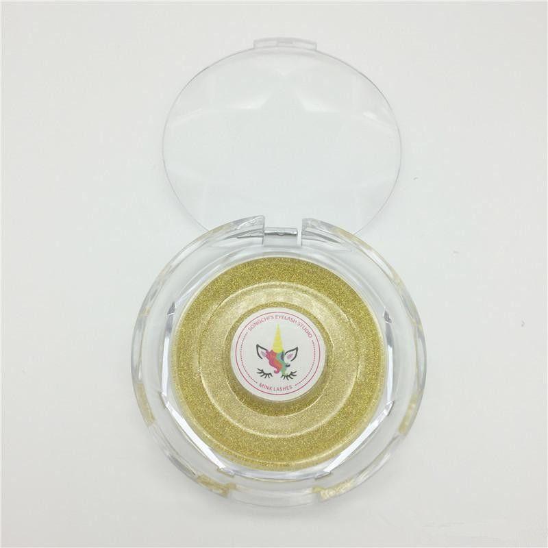 OEM Privat-Logo-Aufkleber-Service 3D Mink Wimpern Individuelles Logo falsche Wimper Logo Makeup Mink Lahes Logo