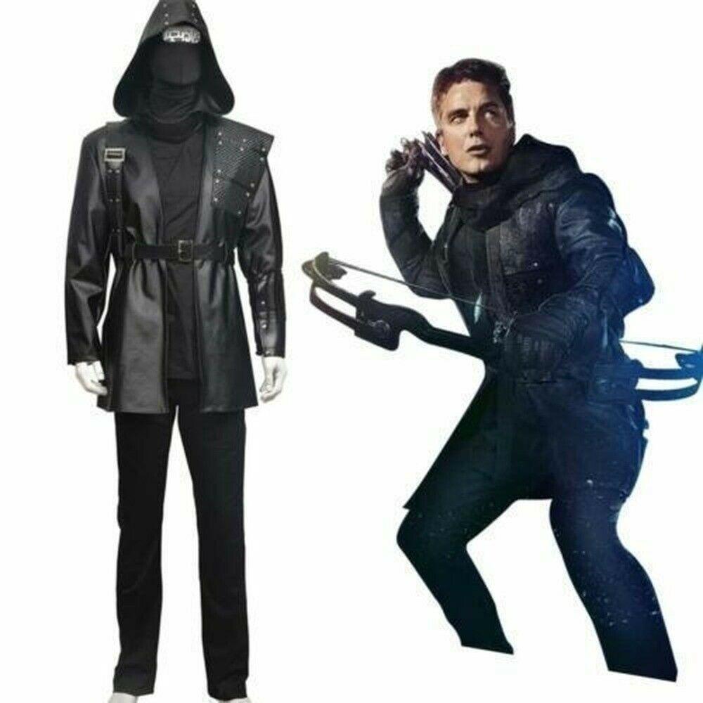 Green Arrow Malcolm escuro Merlyn Archer Halloween Costume Cosplay Batalha Set Suit