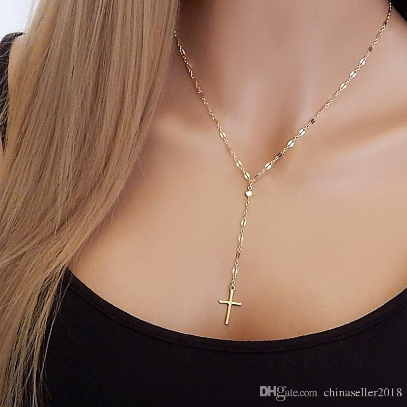 Крест ожерелье женщины колье ювелирные изделия для цепи ожерелье подарки