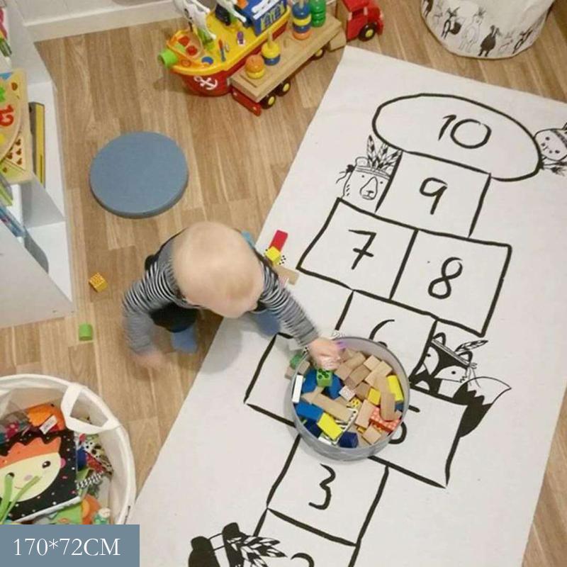 Del gioco del bambino Mat Nordic bambino della stuoia del gioco della campana strisciante molle Tappeti bambini attività di gioco Gym Mats Room Decoration Pavimento Moquette