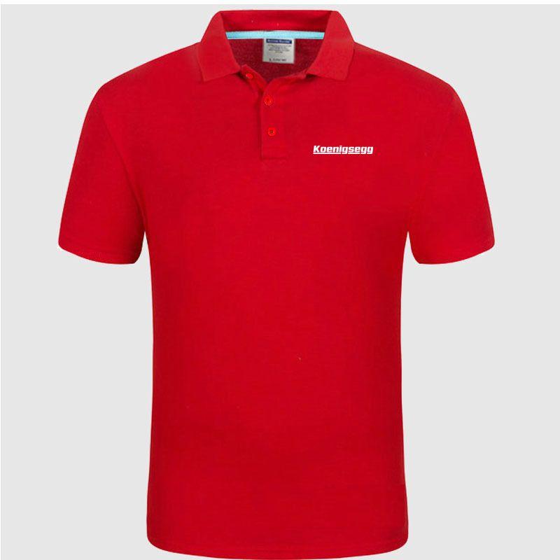 Neue Polo-Hemd Koenigsegg Logo Cotton Polo Shirt Kurzarm Hoch Menge Polo-Shirts