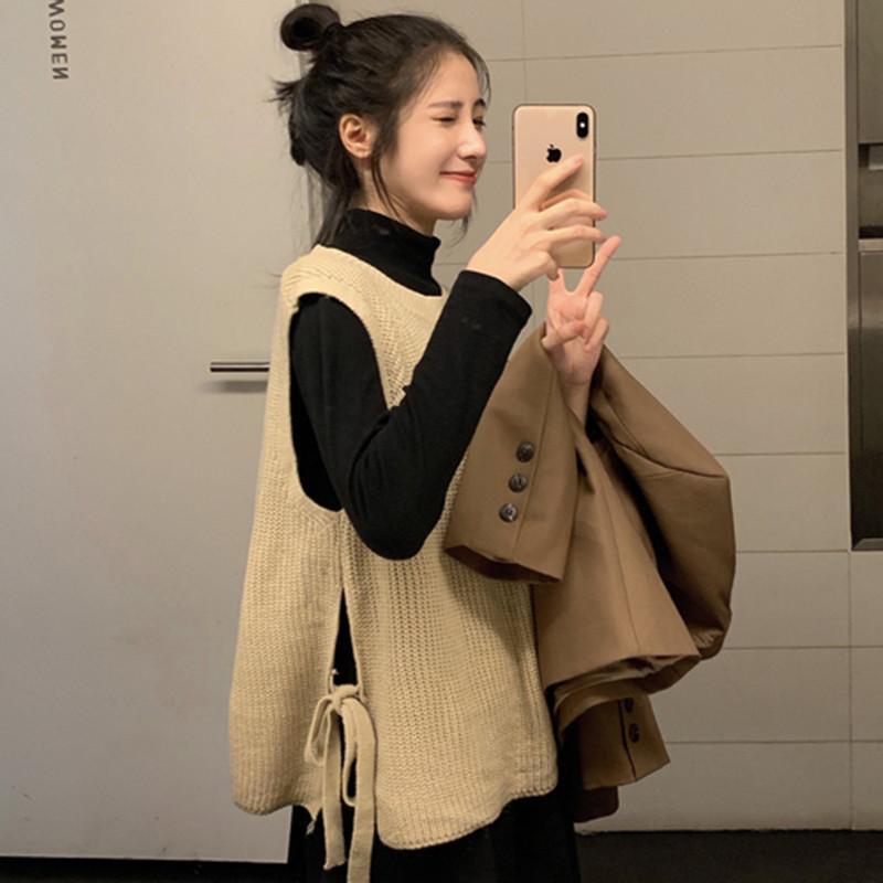 Женские жилеты 3 цвета 2021 летние опрятные вязаные вязаные жилетные свитера женские пуловеры (C524)