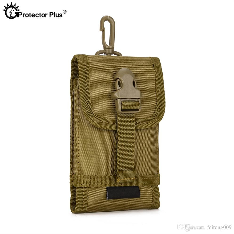 PROTECT PLUS Attachment Pouch Men's 5.8 inches cell phone set Tactical MOLLE System accessory bag Climbing Travel Hiking Bags #433444