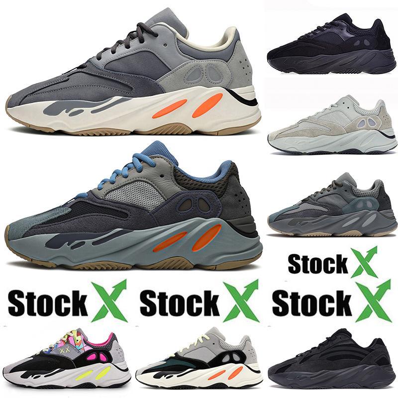 Boost Poco costoso all'ingrosso nuovo Kanye West 700 V2 3M scarpe da corsa per gli uomini di carbonio blu Magnete Designer Kanye Trainer donne di sport scarpe da tennis Stock X