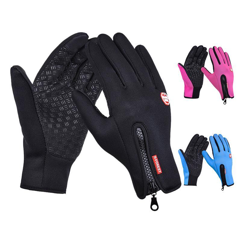 Guanti Touch Screen di sport esterni Windstopper sci guanti blu guida del motociclo guanto Mtb Ciclismo Glove Mens Donne