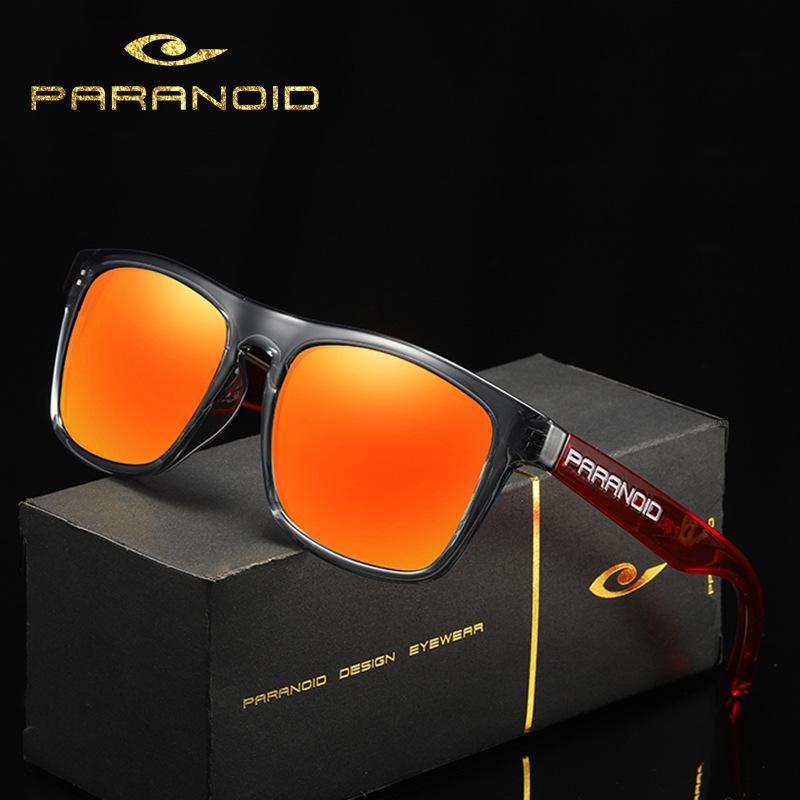 Paranoid 8816 Radsports polarisieren Sonnenbrille mit großem Rahmen im Freien windundurchlässigen Sonnenbrillen Herrenbrillen