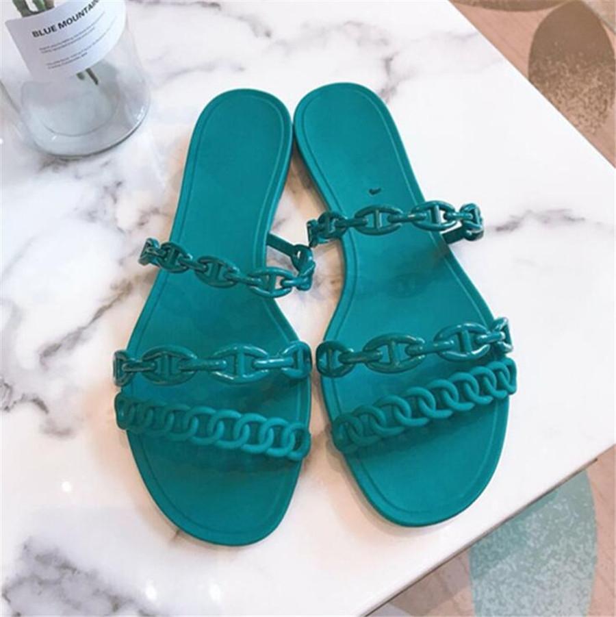 Zapatos Cootelili verano de las mujeres Zapatillas plataforma de la moda 2020 nuevo de la manera de la hebilla de la decoración del diamante Negro Básico zapatillas de tacón de 5 cm # 632