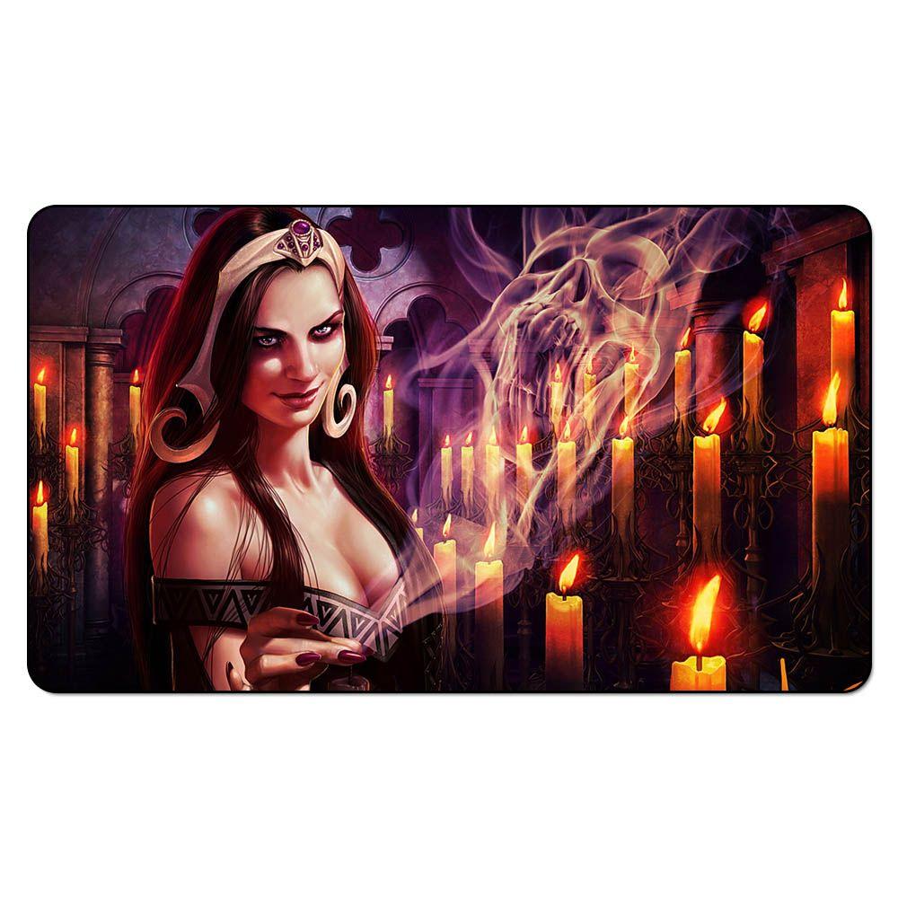 Jogo de tabuleiro mágico Playmat: Liliana Vess 2.60 * 35 cm tamanho esteira de tabela Mousepad Play Mat