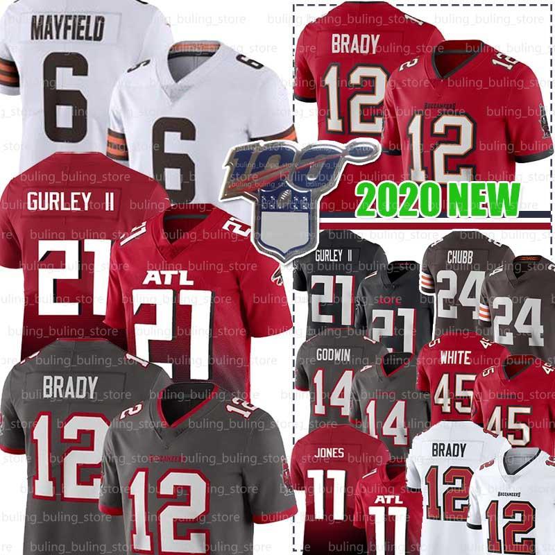 12 Tom Brady Jersey 21 Todd Gurley II 87 Rob Gronkowski TampaBayBuccaneer 45 Devin White AtlantaFalcon Julio Jones Matt Ryan