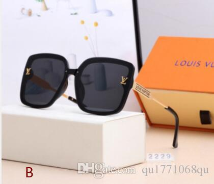 2020 high quality classic aviator sunglasses designer brand men's and women's sunglasses glasses metallic glass lenses