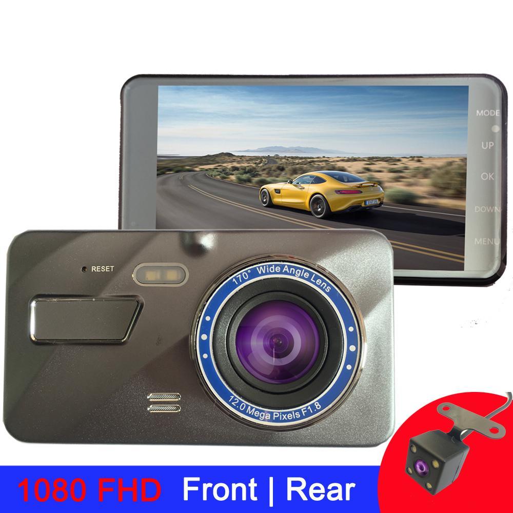 4 Inch Dash cam 2.5D car camera 1980*1080 FHD DashCam car dvr Dual Lens rear view camera Driving Recorder dvr camera
