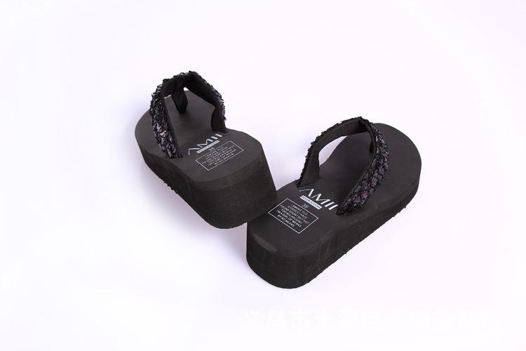 Летние горячие женские пляжные туфли Bling горный хрусталь плоские подошвы обувь лук сандалии флип-флоп тапочки пляж
