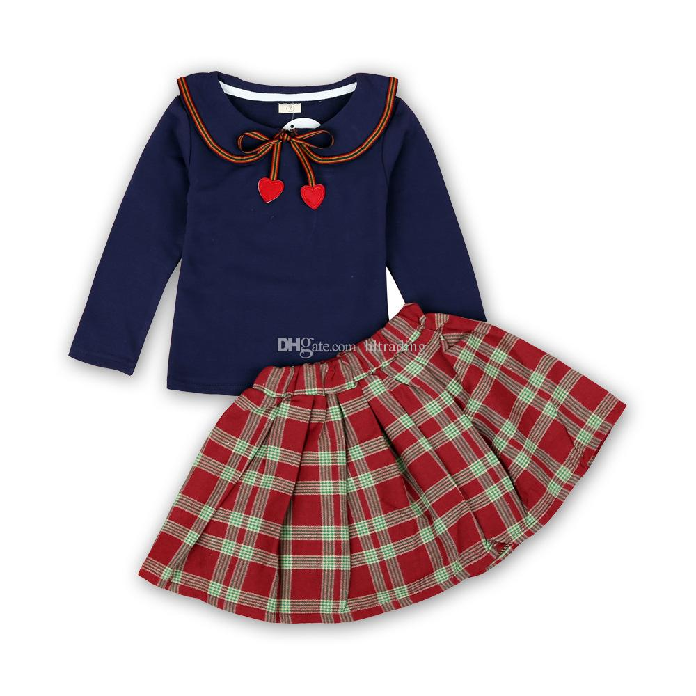Kids Little Girls 2pcs Plaid Skirt Set Jacket and Skirt Girls Fall Boutique Outfits Clothes