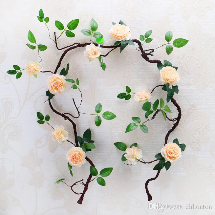 Artificial flowers foam peony vine foam peony rattan Withered Tree rattan New Style 1.8m Artifical Peony Flower Vine For Wedding Decoration