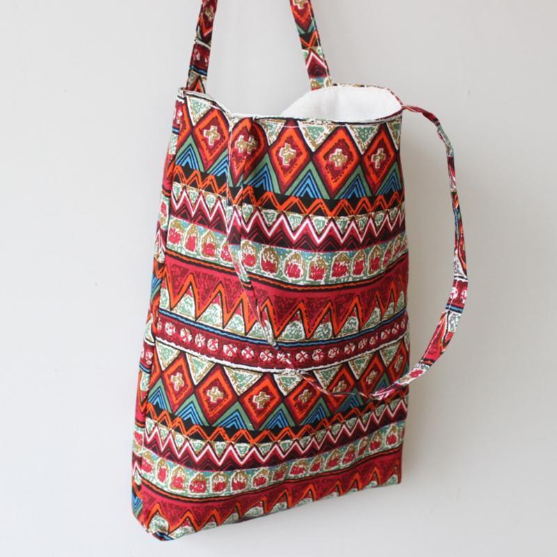 하라주쿠 꽃 회화 어깨 가방 여성 대용량 쇼핑 가방 여성 캐주얼 토트 핸드백