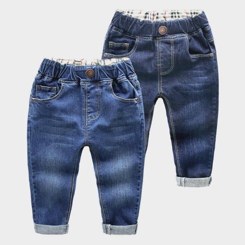 2018 Bahar Çocuklar Kot Erkek Kız Moda Delik Kot Çocuk kot Erkek Rahat Kot Pantolon 2-6y Toddler Için Yüksek Kalite J190517