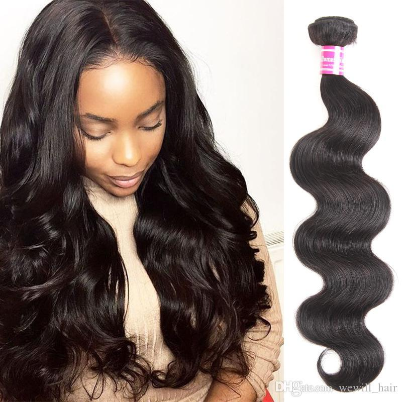 Wewill Hair Products Brazilian Body Wave 100% Remy human Hair extensions Can Buy 3 or 4 Bundles Natural Virgin Hair Weave 1 Piece per lot