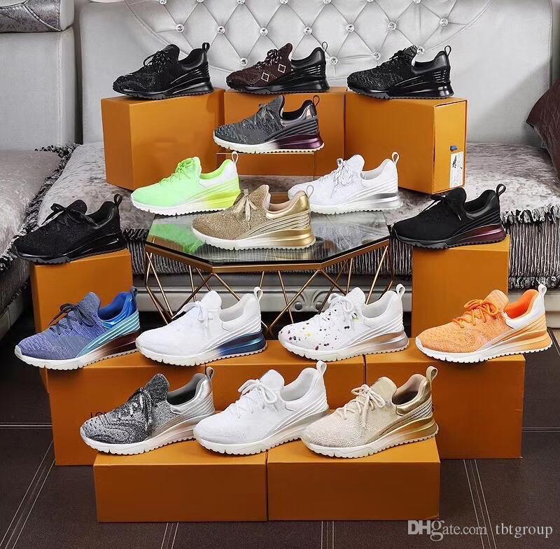 2020 Scarpe da corsa del progettista del Mens V.N.R Sneaker Blu Nero di lusso casuali di cuoio di sport degli uomini Scarpe da ginnastica di tennis traspirante con la scatola