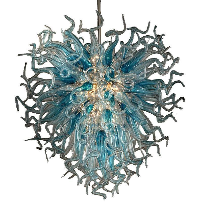 Pas cher style Art Glass Pendant Light Salon Hôtel lampe décoration en verre soufflé à la bouche Murano lampe en cristal Lustre