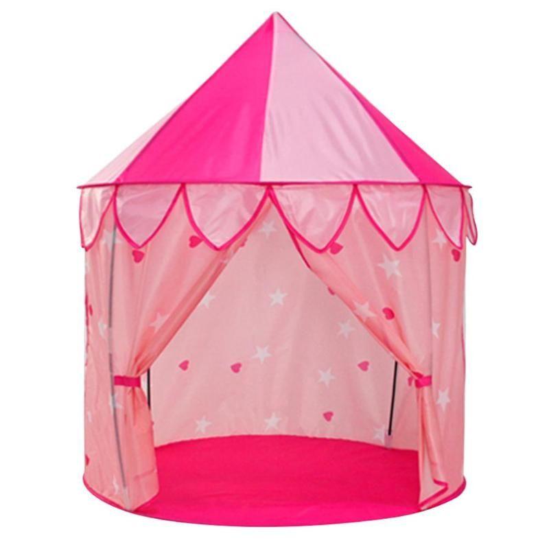 접는 게임 성 몽골 가방 집 Playhouses 공주 하우스 대형 실내 어린이 텐트 장난감 아이들을위한 놀이