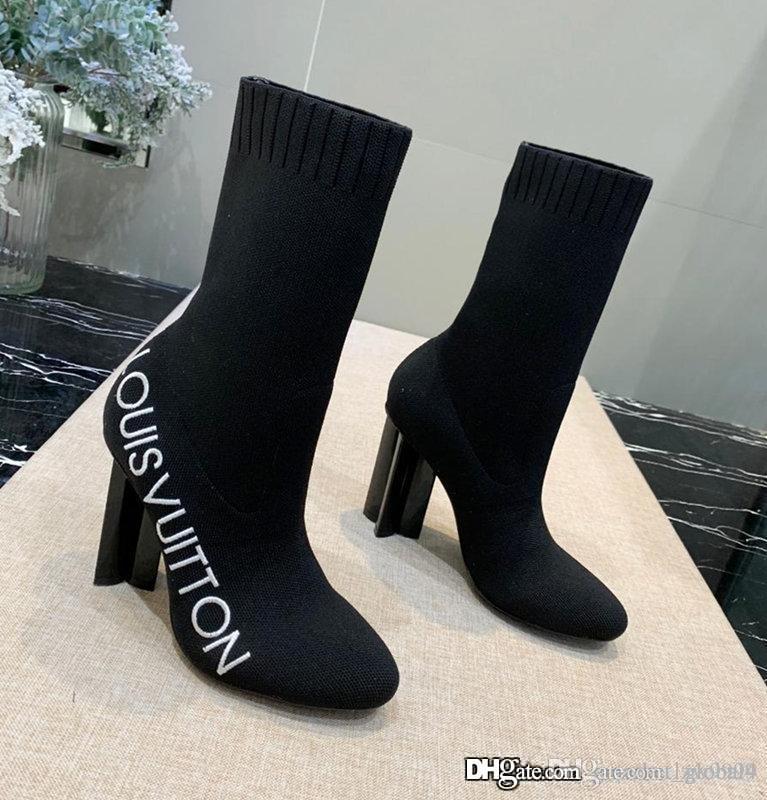 الأحذية النسائية الجديدة BOTTINE SILHOUETTE فاخر مصمم الأحذية حجم 1A5MJK المرأة الأحذية في الكاحل عارضة أزياء ذات جودة عالية 35-41