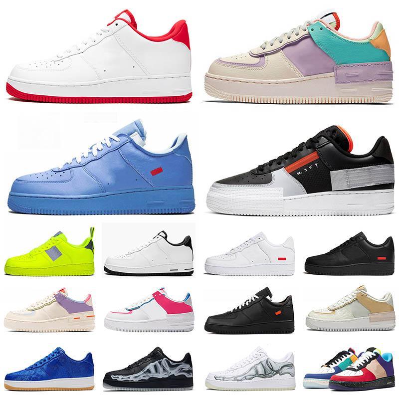 Großhandel NIKE AIR FORCE ONE AF1 Airmax Luxus Designer Schuhe Männer Frauen Kräfte Rot Classicl Schwarz Weizen Weiß High Low Herren Sneakers